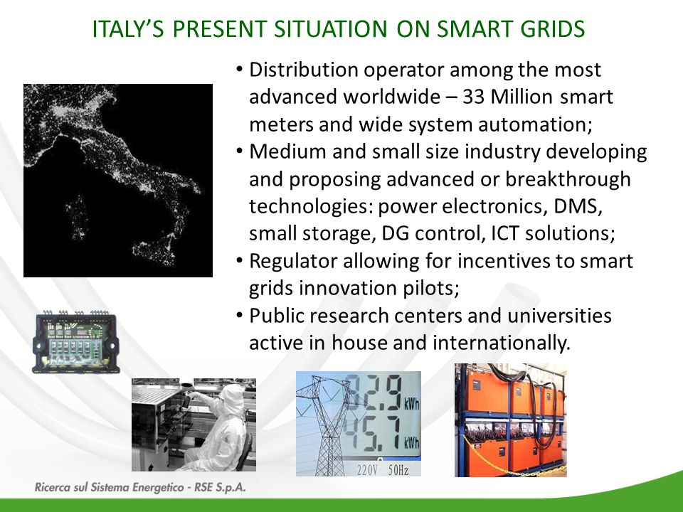ITALY'S PRESENT SITUATION ON SMART GRIDS