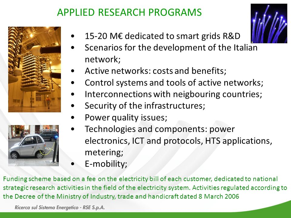 APPLIED RESEARCH PROGRAMS