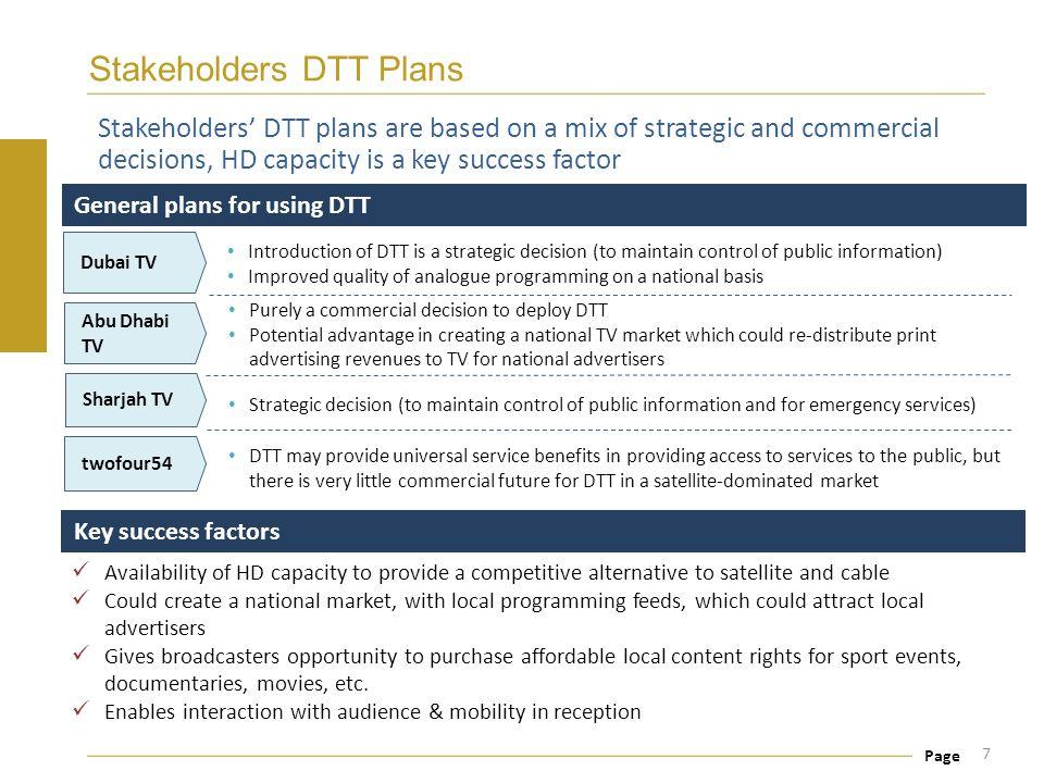 Stakeholders DTT Plans