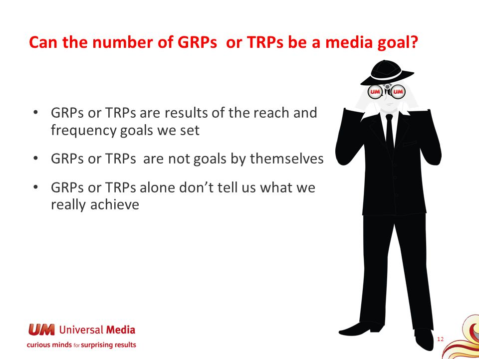 Can the number of GRPs or TRPs be a media goal