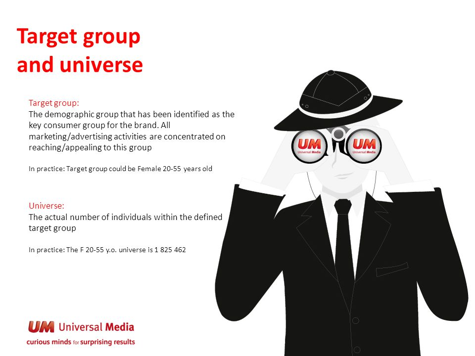 Target group and universe
