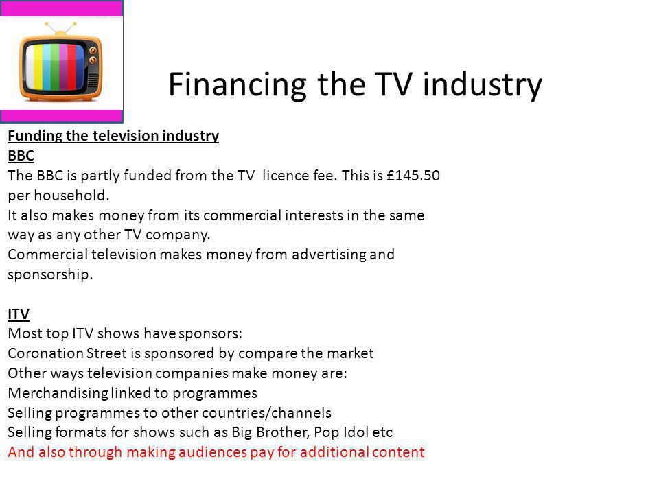 Financing the TV industry