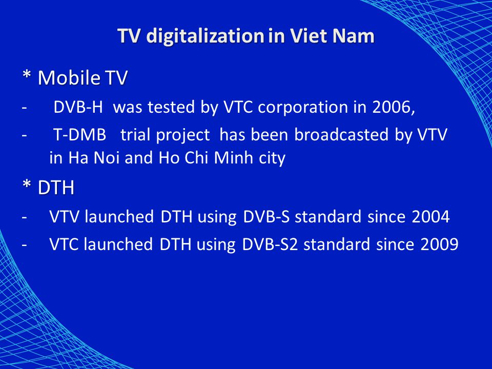 TV digitalization in Viet Nam