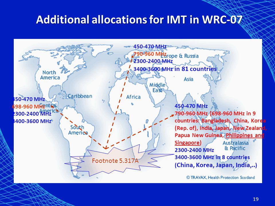 Additional allocations for IMT in WRC-07