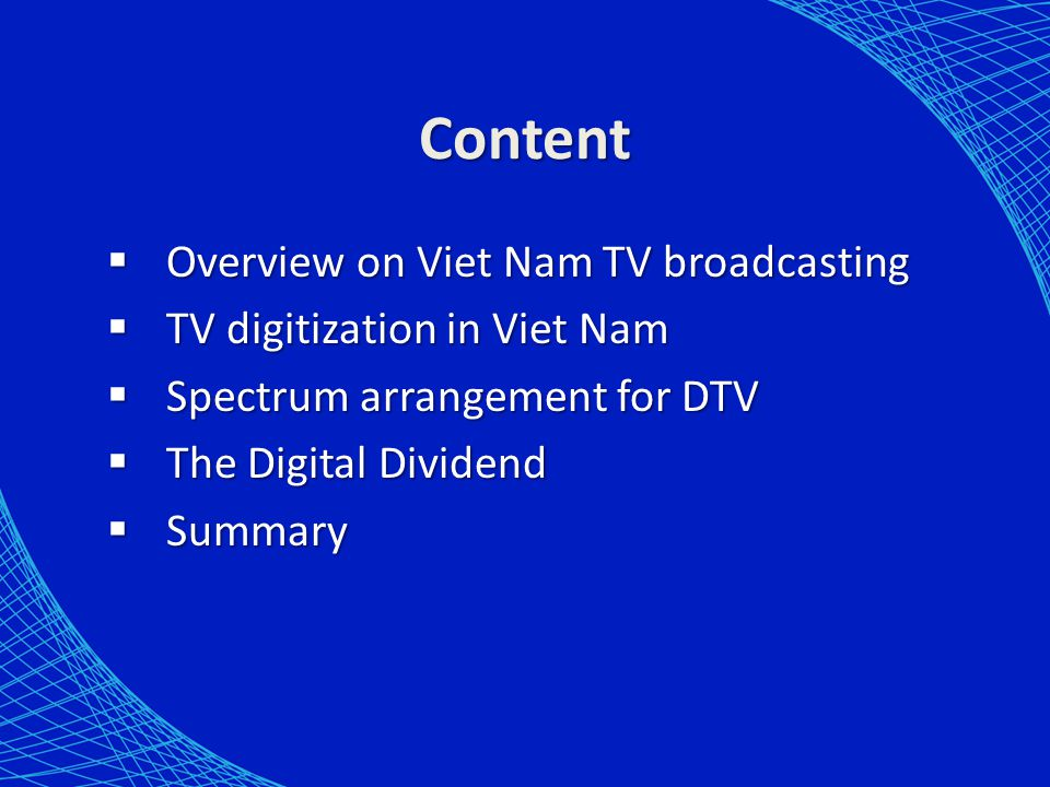 Content Overview on Viet Nam TV broadcasting
