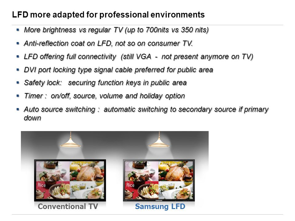 LFD more adapted for professional environments