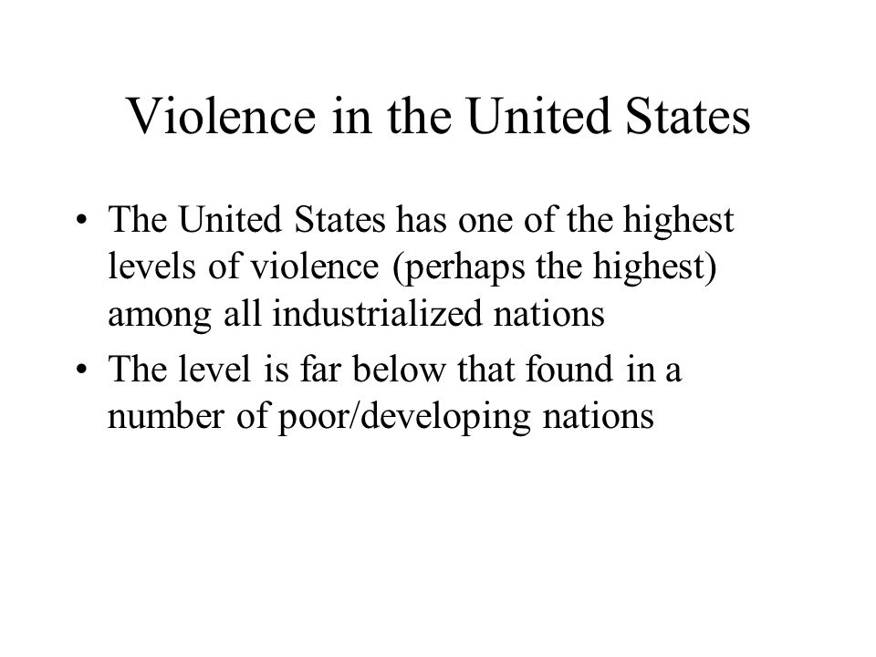 Violence in the United States