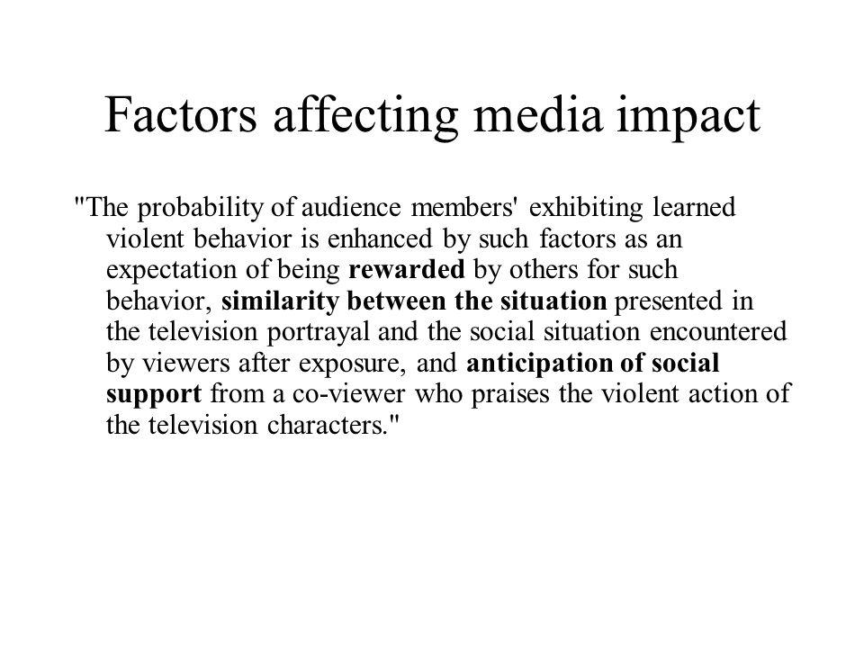 Factors affecting media impact