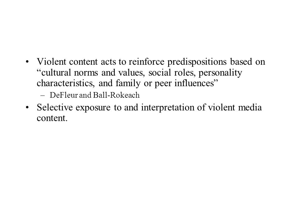 Selective exposure to and interpretation of violent media content.