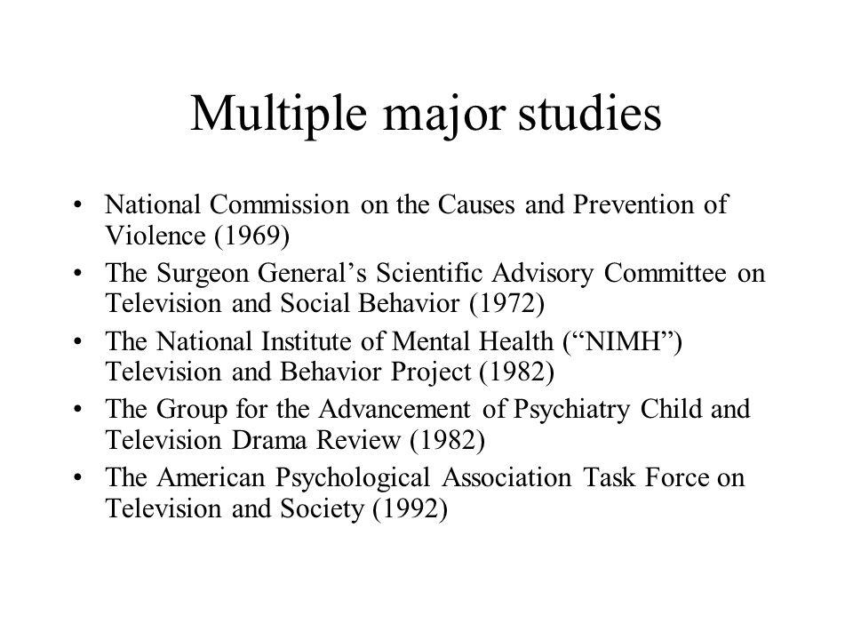Multiple major studies