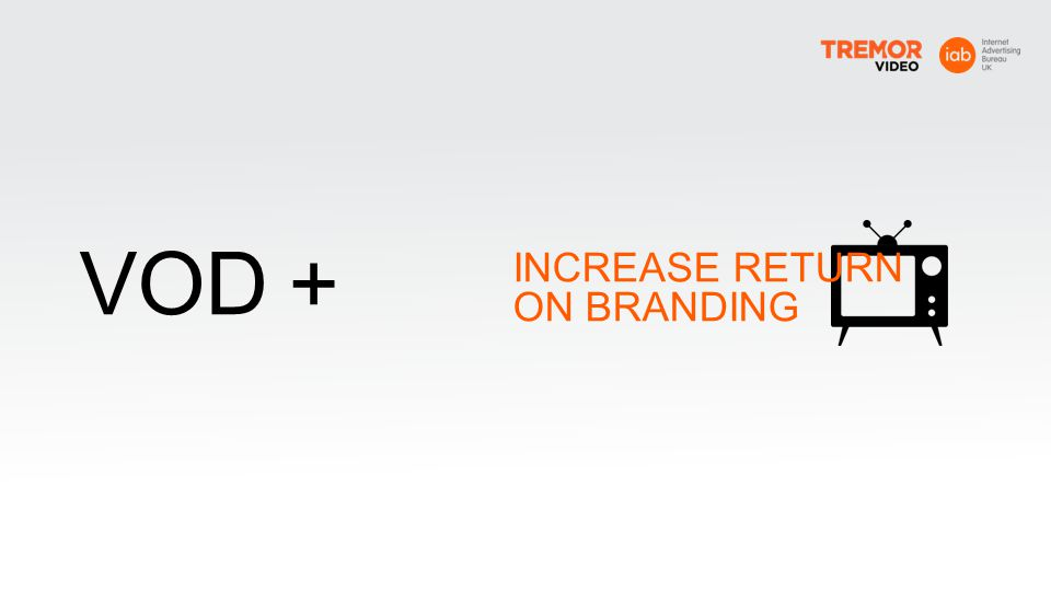+ VOD INCREASE RETURN ON BRANDING