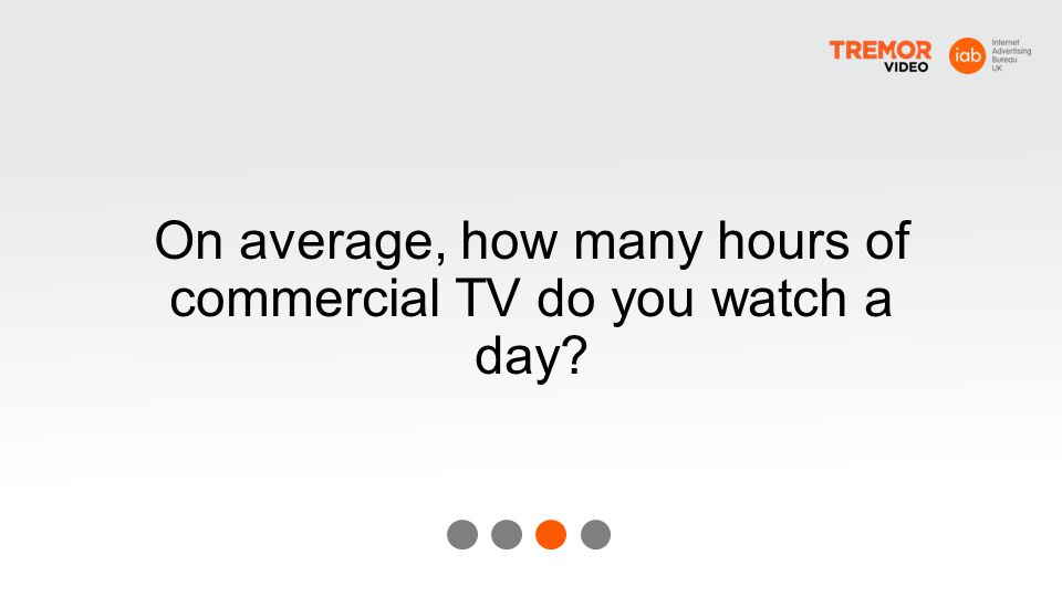 On average, how many hours of commercial TV do you watch a day