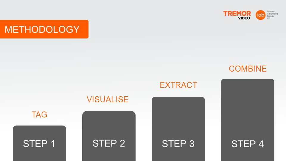 METHODOLOGY STEP 4 STEP 3 STEP 2 STEP 1 COMBINE EXTRACT VISUALISE TAG