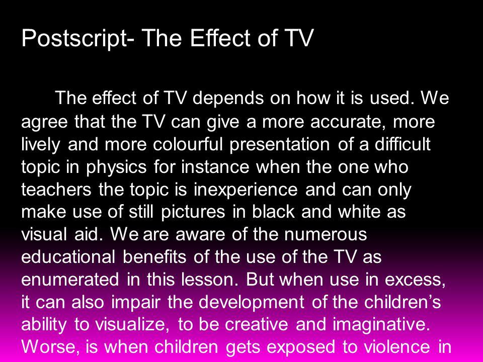 Postscript- The Effect of TV