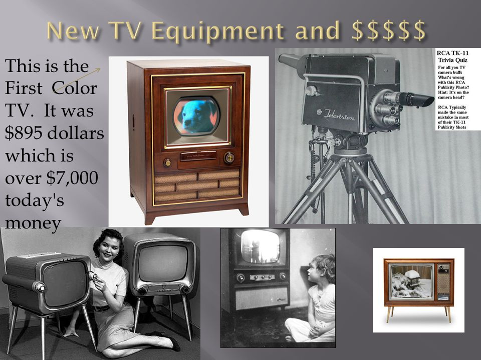 New TV Equipment and $$$$$