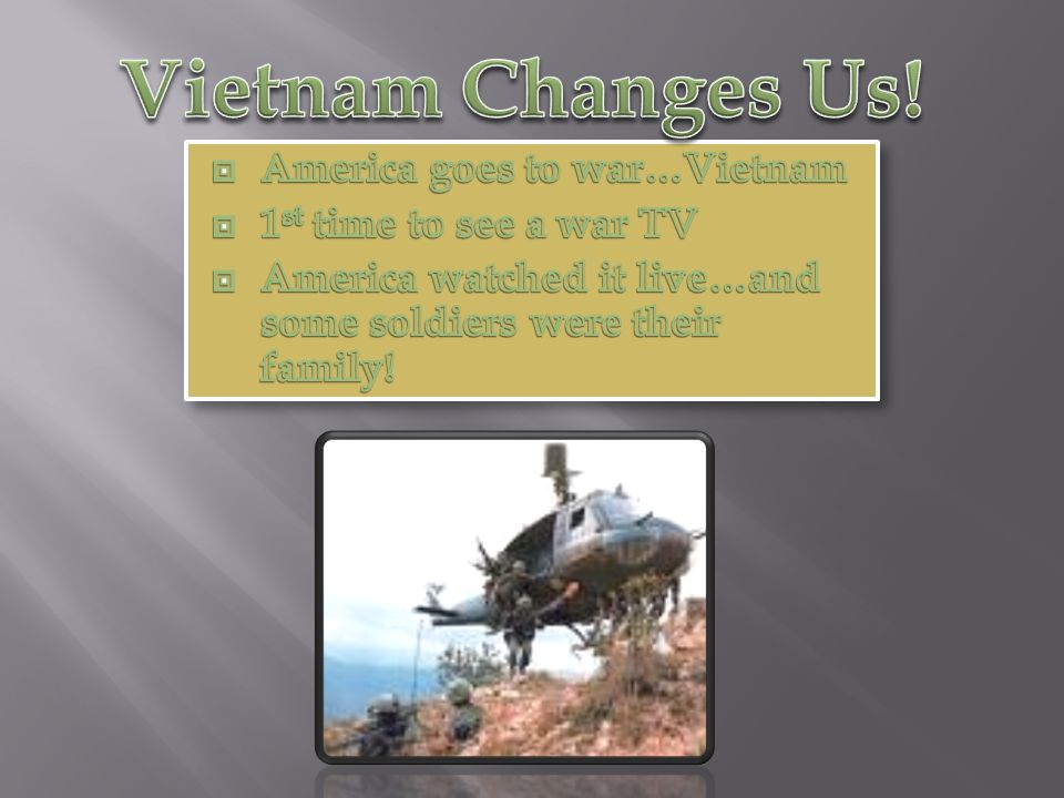 Vietnam Changes Us! America goes to war…Vietnam