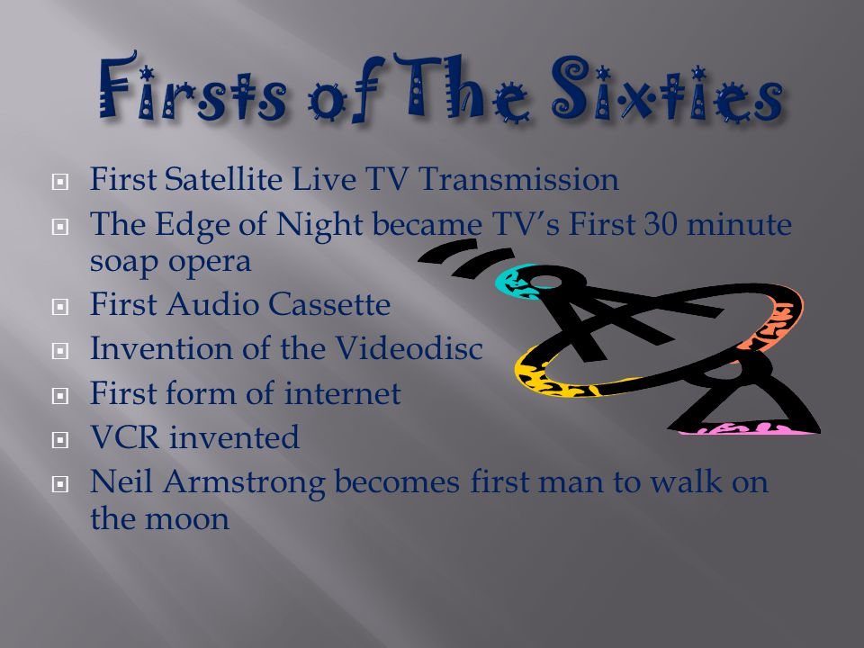 Firsts of The Sixties First Satellite Live TV Transmission