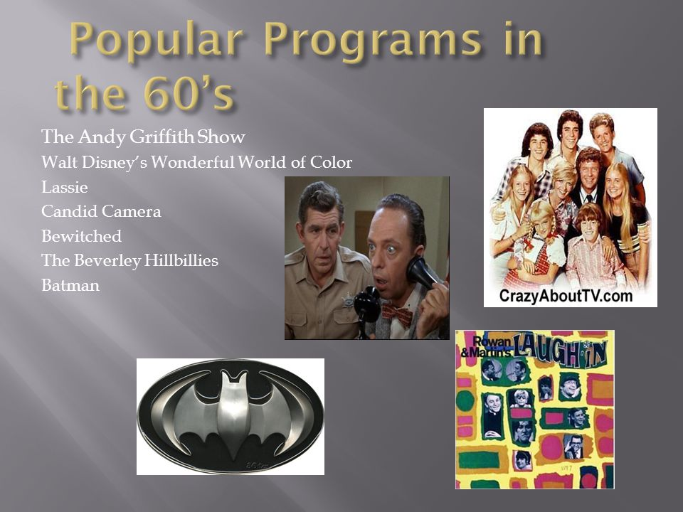 Popular Programs in the 60's