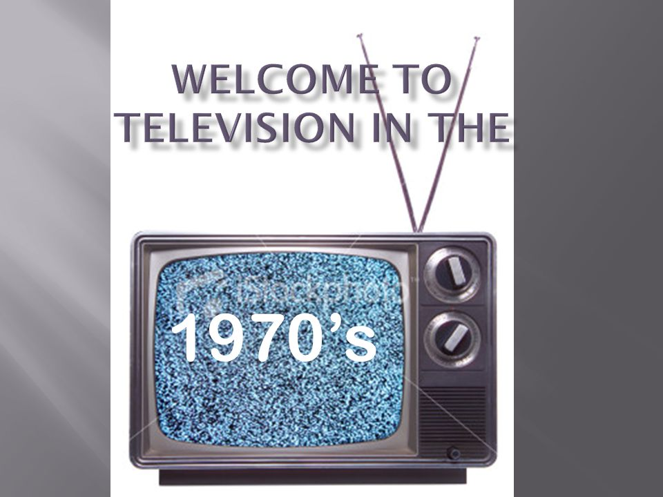 Welcome to Television in the