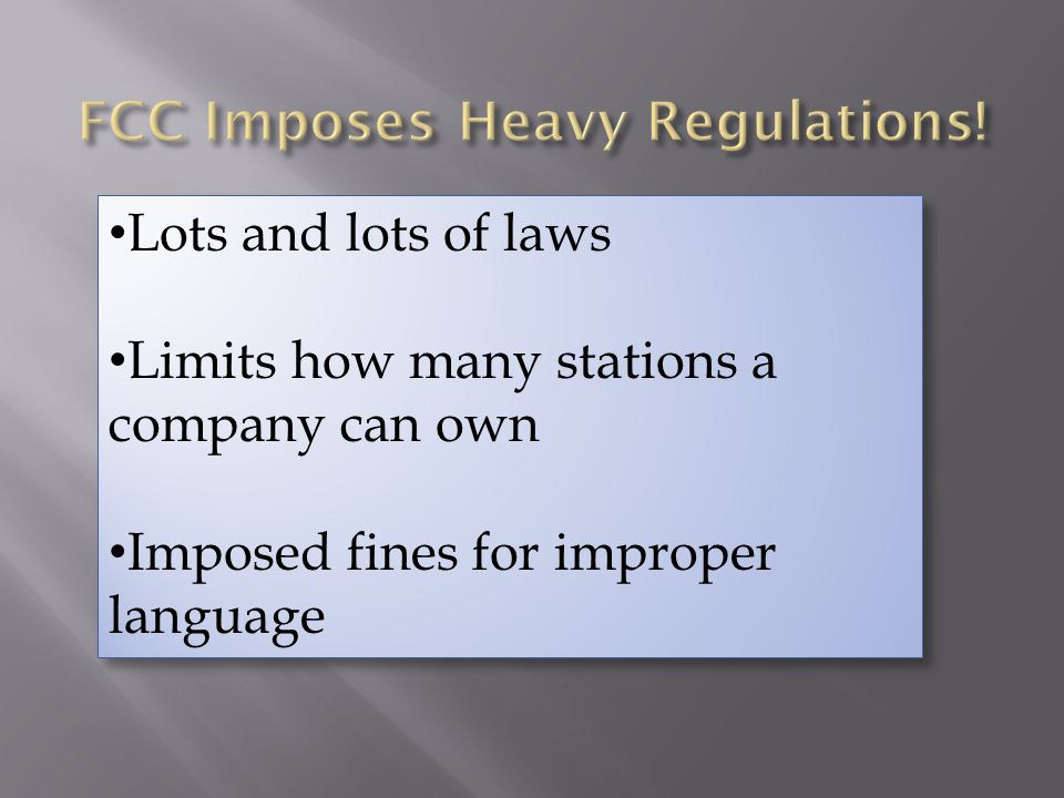 FCC Imposes Heavy Regulations!