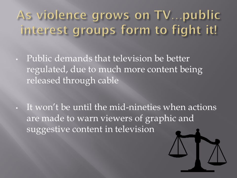 As violence grows on TV…public interest groups form to fight it!