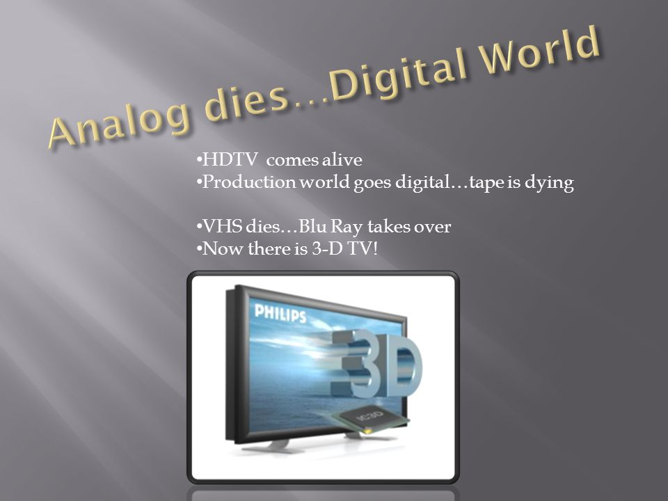 Analog dies…Digital World