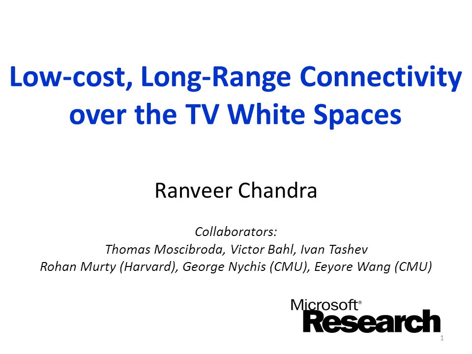 Low-cost, Long-Range Connectivity over the TV White Spaces