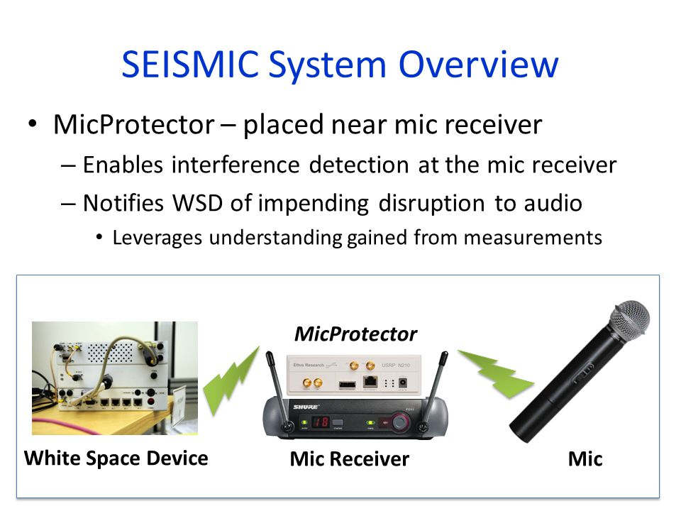 SEISMIC System Overview