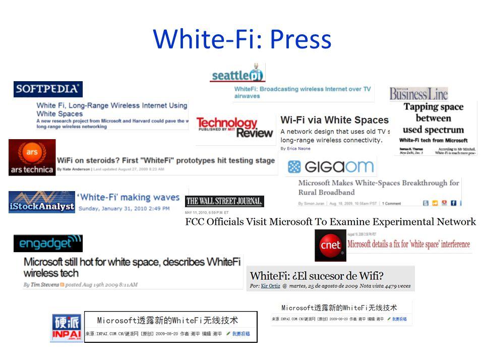 White-Fi: Press