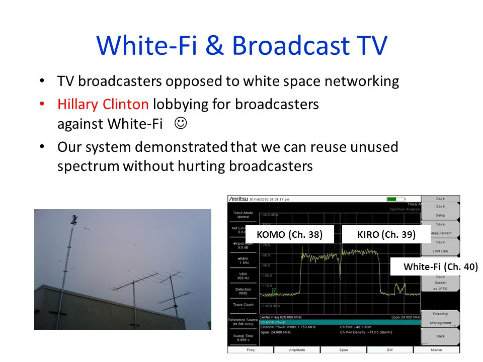 White-Fi & Broadcast TV