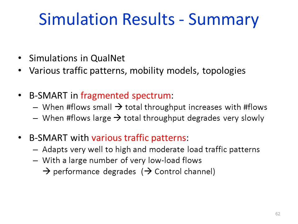Simulation Results - Summary