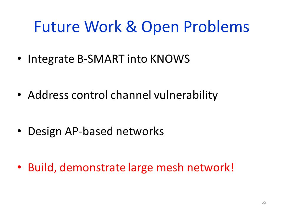 Future Work & Open Problems