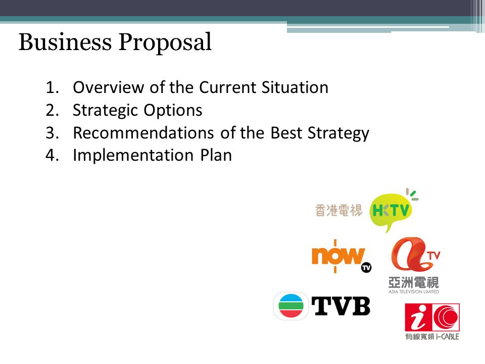 Business Proposal Overview of the Current Situation Strategic Options
