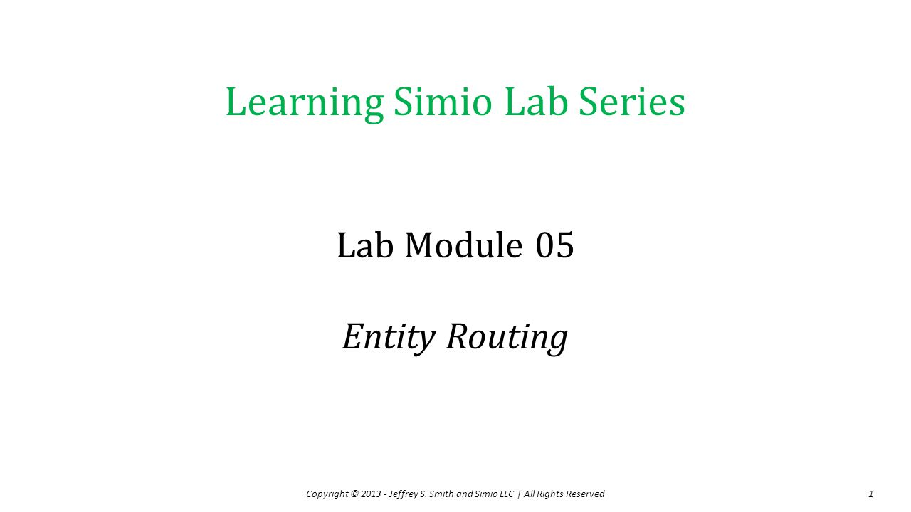 Lab Module 05 Entity Routing