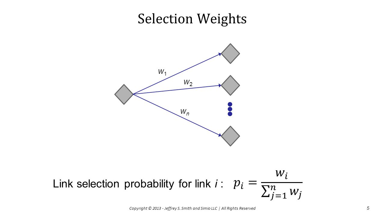 Selection Weights 𝑝 𝑖 = 𝑤 𝑖 𝑗=1 𝑛 𝑤 𝑗
