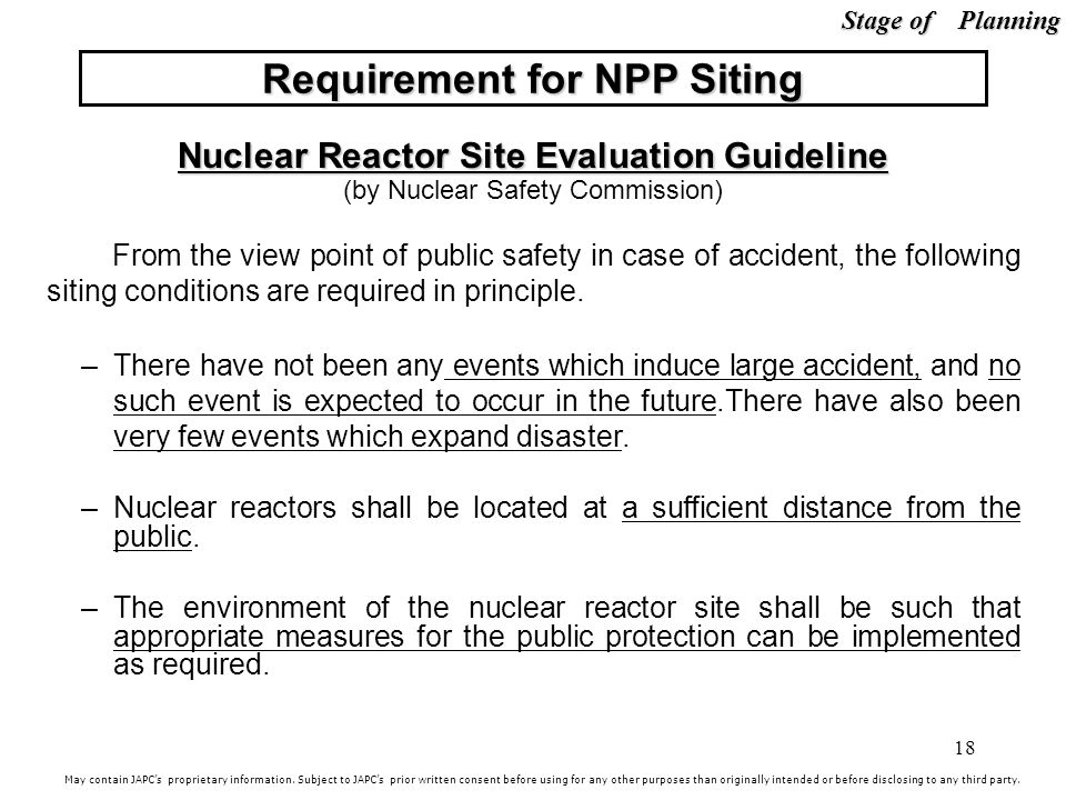 Requirement for NPP Siting