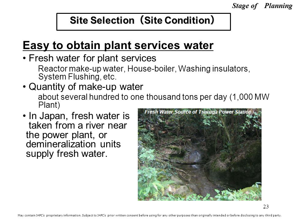 Site Selection(Site Condition)