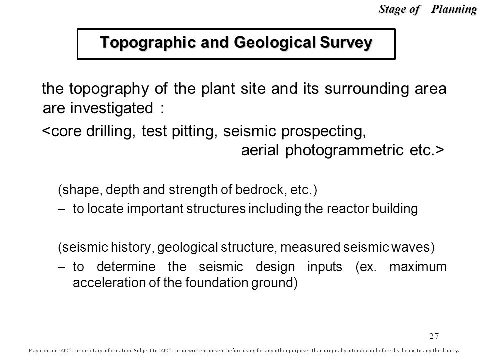 Topographic and Geological Survey