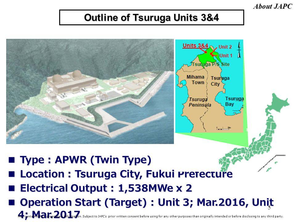 Outline of Tsuruga Units 3&4