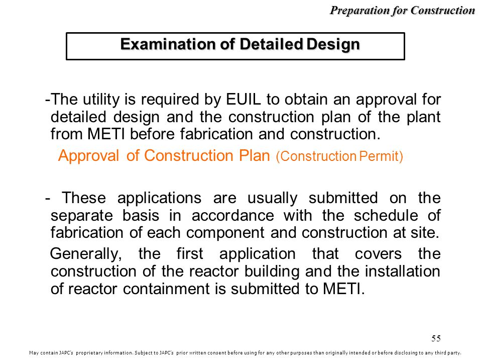 Examination of Detailed Design