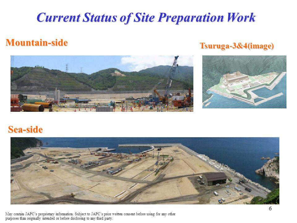 Current Status of Site Preparation Work