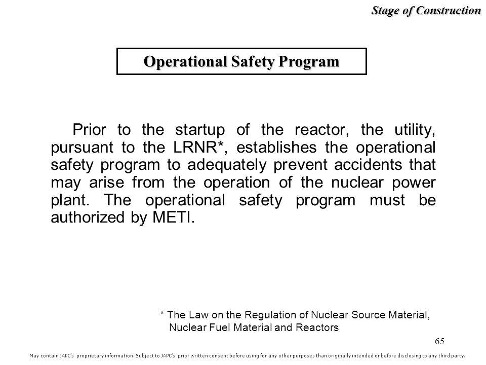 Operational Safety Program