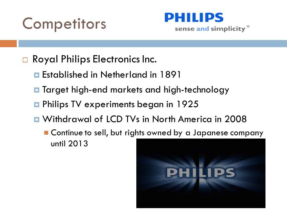 Competitors Royal Philips Electronics Inc.