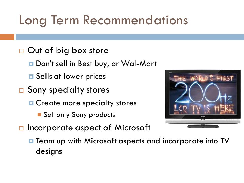 Long Term Recommendations