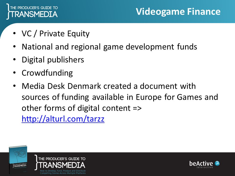 Videogame Finance VC / Private Equity