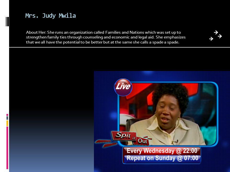 Mrs. Judy Mwila