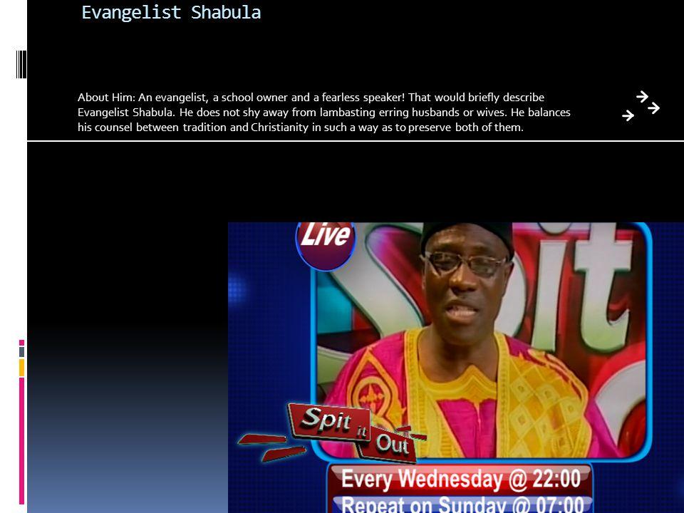 Evangelist Shabula