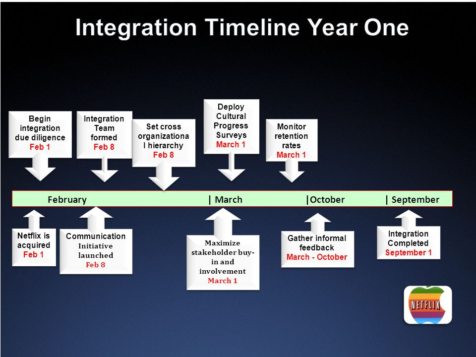Integration Timeline Year One