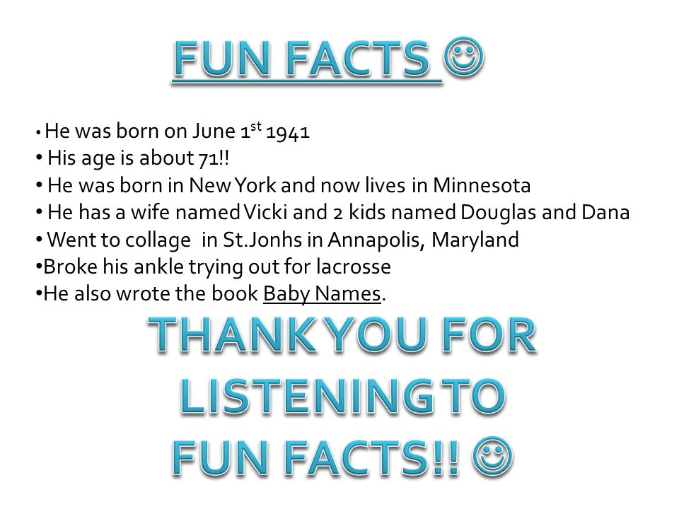 THANK YOU FOR LISTENING TO FUN FACTS!! 