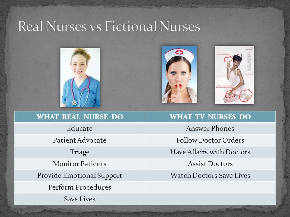 Real Nurses vs Fictional Nurses